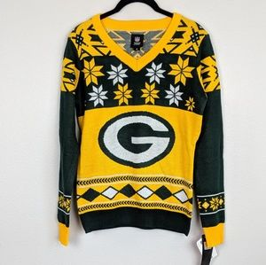 Green Bay Packers Ugly Sweater NWT
